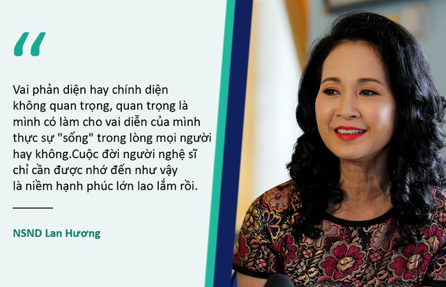 """Xem thêm: NSND Lan Hương: """"Chồng tôi mà chuyên tâm cho phim ảnh, chắc chắn nổi tiếng hơn tôi nhiều"""""""