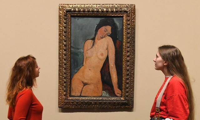 """Bức """"Phụ nữ khỏa thân"""" (1916) của Modigliani."""