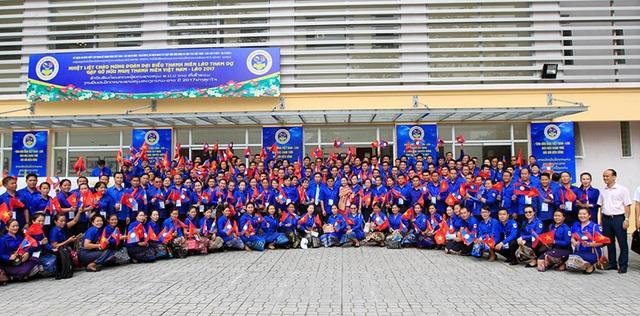 Thanh niên Việt Nam - Lào hào hứng tham gia chương trình giao lưu thắm tình hữu nghị