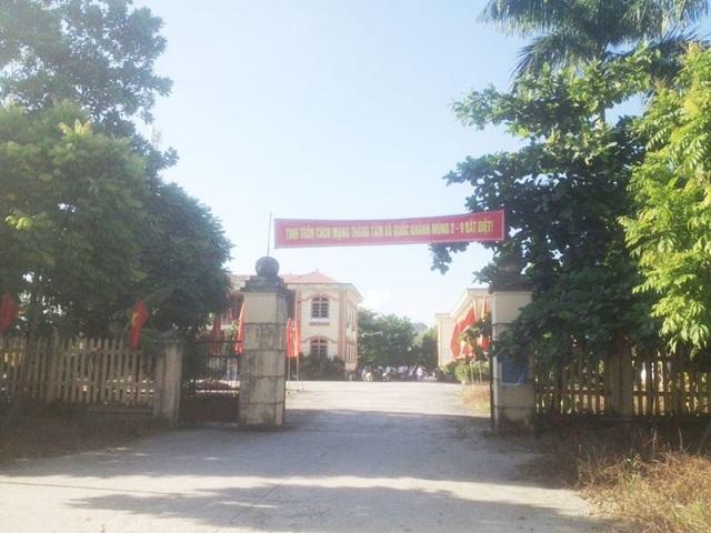 Công sở xã Ninh Vân, nơi ông Tính làm việc.