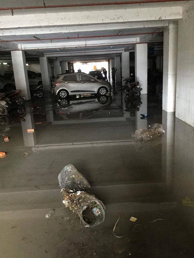 """Tầng hầm giữ xe biến thành """"biển nước"""" - 9"""