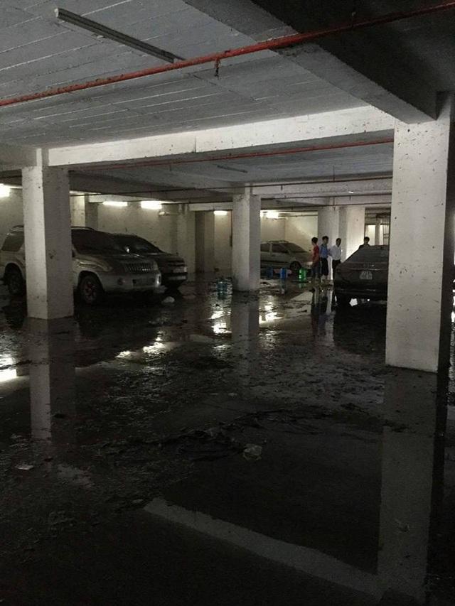 """Tầng hầm giữ xe biến thành """"biển nước"""" - 8"""