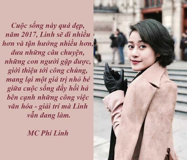 """MC Phí Linh - từ đêm Noel không Facebook ở Anh đến Giao thừa đất Việt - Có cơ hội đón Giáng sinh ở Anh, nữ MC kể: """"Gia đình 4 thế hệ không bận rộn Facebook, check-in mà cùng quây quần bên nhau như nếp sinh hoạt của người Việt"""". Dẫn sang câu chuyện ở Việt Nam, Phí Linh cho rằng, đêm Giao thừa là một điều thiêng liêng không thể thay thế được."""