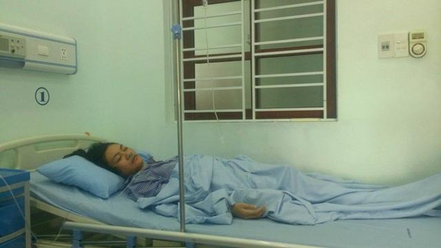 Cô giáo P.T.H đang điều trị tại bệnh viện