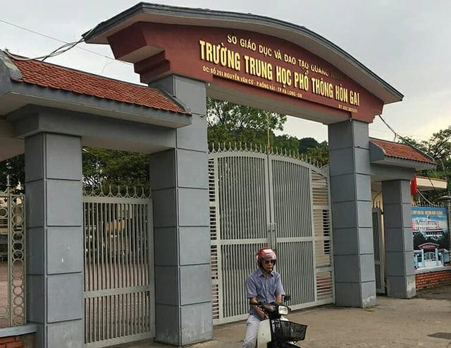 Trường THPT Hòn Gai nơi có học sinh lớp 10 rơi từ tầng 5 xuống tử vong (ảnh CYV)