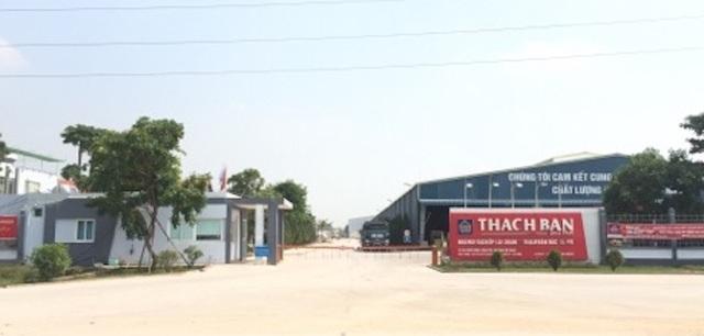 Công ty TNHH Thạch Bàn bị xử phạt 105 triệu đồng.