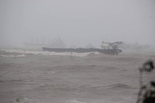 Nhiều tàu hàng có nguy cơ bị đánh chìm ở biển Quy Nhơn (ảnh Doãn Công)