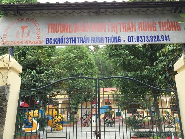 Trường mầm non thị trấn Rừng Thông, nơi phụ huynh kêu trời vì những khoản vô lý