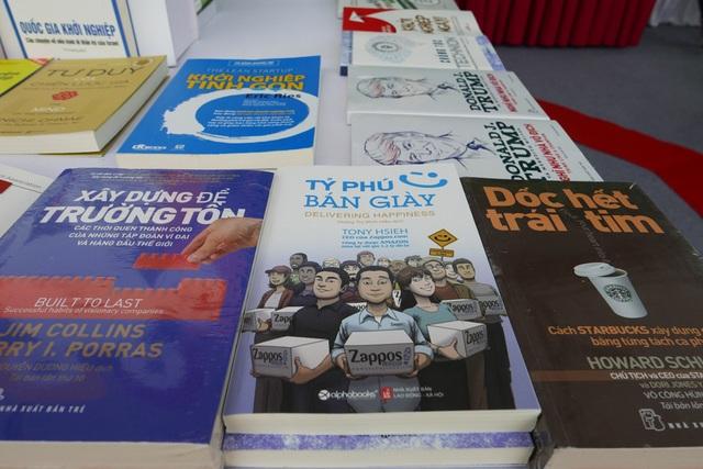 Với chủ đề Sách và Khởi nghiệp, hội sách lần này dành gian chuyên đề chính cho những cuốn sách truyền cảm hứng tinh thần khởi nghiệp.