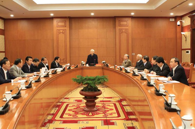 Quang cảnh cuộc họp do Tổng Bí thư Nguyễn Phú Trọng chủ trì ngày 25/11