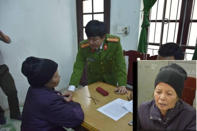Bà nội cháu bé hơn 20 ngày tuổi bị sát hại được xác định là nghi phạm gây án (ảnh: Nguyễn Thùy)