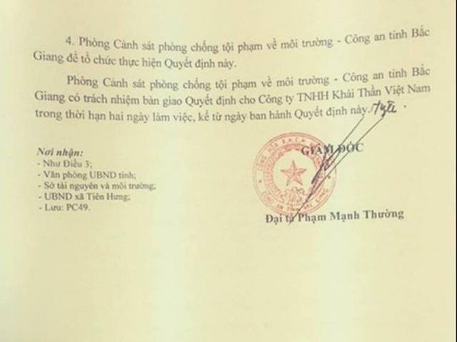 Thêm bằng chứng tố sự bất chấp pháp luật của doanh nghiệp chống lệnh Chủ tịch tỉnh Bắc Giang! - 6