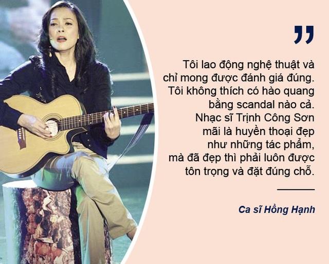 """Xem thêm: Ca sĩ Hồng Hạnh bức xúc khi bị gọi là """"người tình Trịnh Công Sơn"""""""
