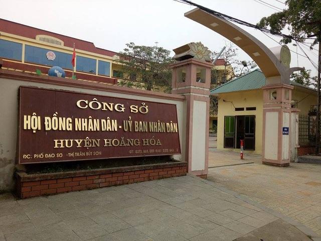 UBND huyện Hoằng Hóa, nơi xảy ra nhiều sai phạm trong tuyển dụng, bổ nhiệm