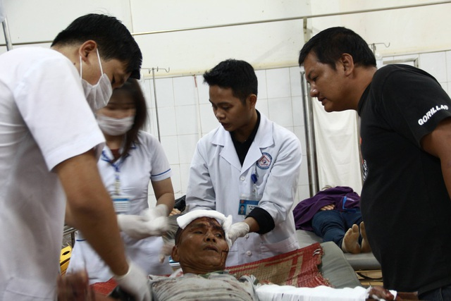 Nhiều nạn nhân bị thương rất nặng