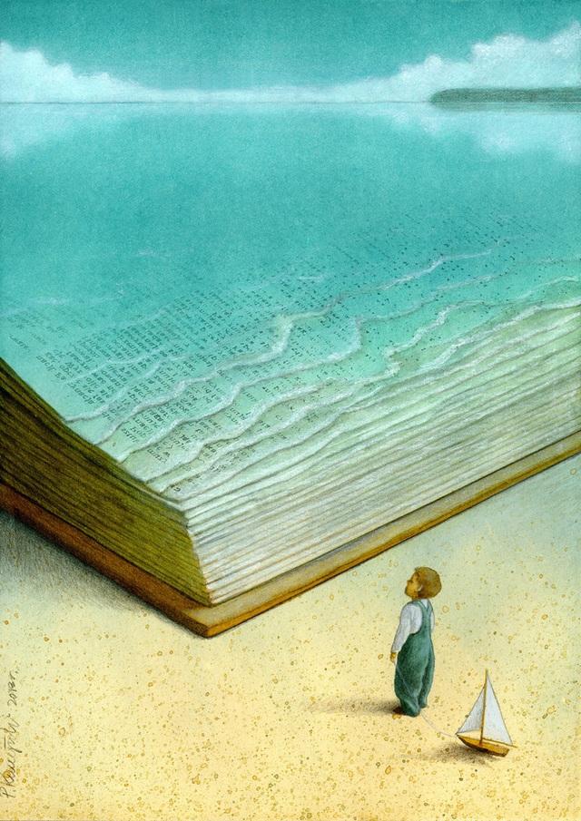 Bức vẽ của họa sĩ Pawel Kuczynski (Ba Lan) đoạt giải ba. Hãy để nhiều thế hệ tương lai sẽ còn được thấy vẻ đẹp của biển cả, đừng để những kỳ quan biển cả chỉ còn được nhắc tới trong sách vở và muốn được chiêm ngưỡng, trẻ phải dùng trí tưởng tượng của mình.