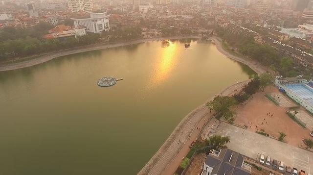 Toàn cảnh hồ Thành Công trước đề xuất cho lấp để xây nhà - 3
