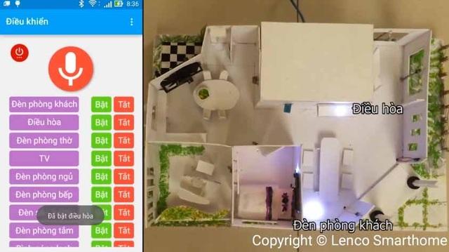 Mô hình mô phỏng hệ thống cùng giao diện điều khiển và giám sát từ điện thoại Android (bìa phải)