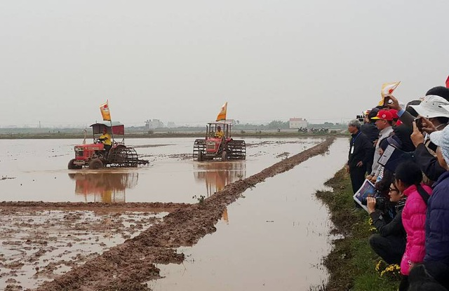 Đông đảo người dân huyện Kim Sơn nô nức tham gia ngày hội xuống đồng năm 2017