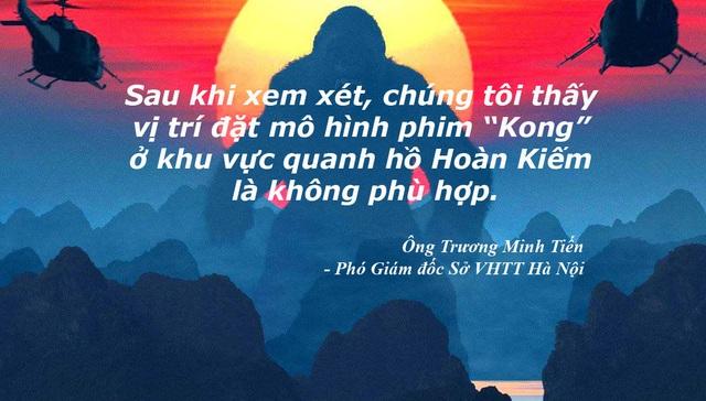 Xem thêm: Hà Nội bác đề xuất đặt mô hình khỉ Kong cạnh hồ Hoàn Kiếm