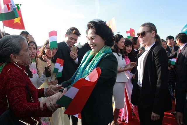 Kiều bào chào đón Chủ tịch Quốc hội Nguyễn Thị Kim Ngân thăm Hungary - 3