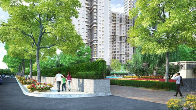 Toàn công trình được bao quanh và bảo vệ bởi hành lang cây xanh, vừa đảm bảo được an ninh vừa mang tính thẩm mỹ cao.
