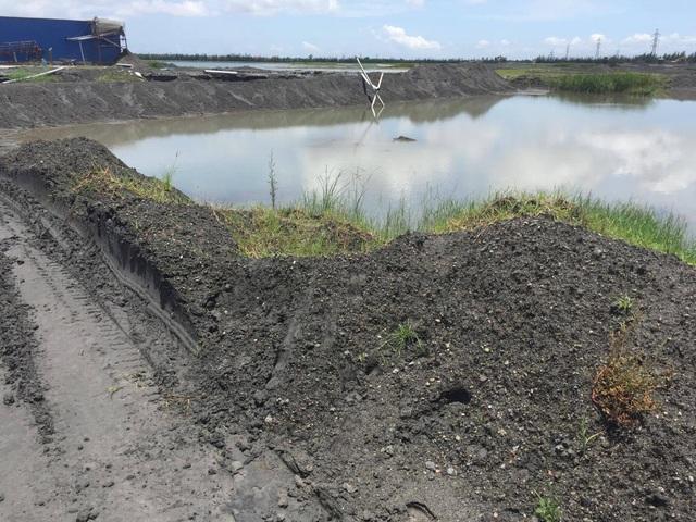 Hồ chứa chất thải của nhà máy nay chỉ để chứa nước