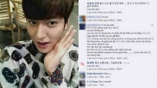 """Lee Min Ho cũng từng phải cảnh cáo các """"anh hùng bàn phím"""" Việt"""