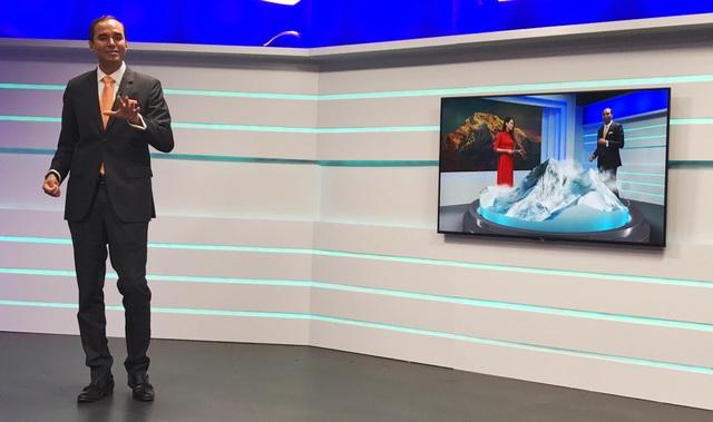 Công nghệ tăng cường thực tế ảo (AR) được áp dụng và xử lý ngay trên trường quay của VTVcab.
