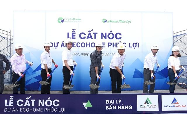 Dự án EcoHome Phúc Lợi được cất nóc vào ngày 27/9 vừa qua, dự kiến sẽ hoàn thành sớm 1 tháng so với tiến độ thi công cam kết với khách hàng.