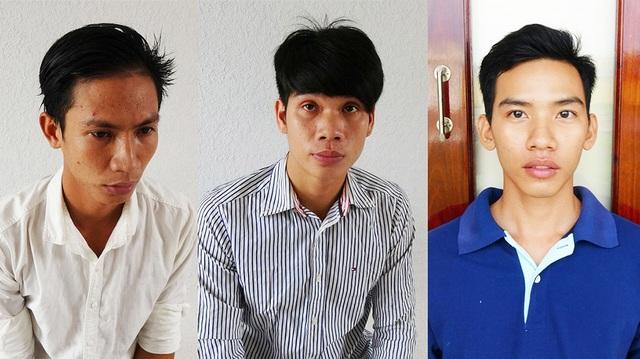 Các đối tượng bị tạm giữ tại cơ quan điều tra TP Tân An