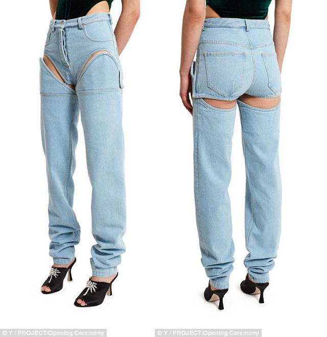 Hai nửa quần được gắn với nhau bằng những khóa móc, dù vậy, cho dù đang mặc ở dạng quần dài, chân người mặc cũng vẫn sẽ luôn bị lộ một chút.