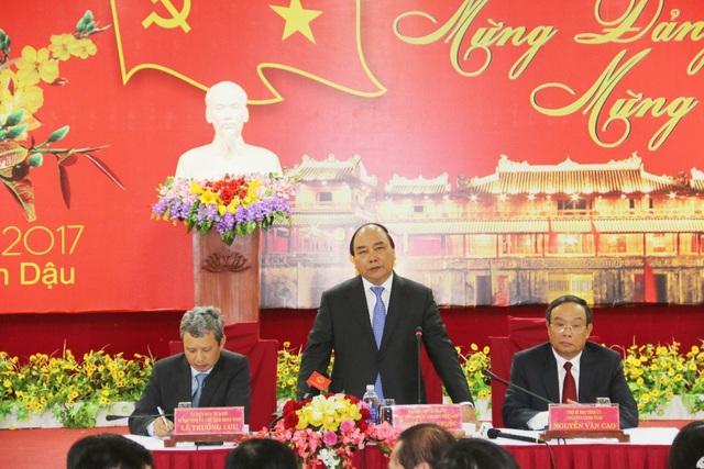 Thủ tướng Nguyễn Xuân Phúc làm việc với tỉnh Thừa Thiên Huế sáng mùng 4 Tết