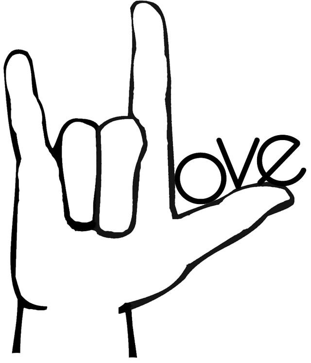 Trong ngôn ngữ cử chỉ Mỹ (ASL), động tác tay này còn được sử dụng với ý nghĩa nói lời yêu thương.