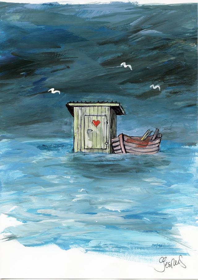 Bức vẽ của Jesper Sørensen (Đan Mạch). Biến đổi khí hậu, băng tan và ngập lụt xảy ra ở nhiều quốc gia. Đó là những điều đã được cảnh báo bấy lâu nay.