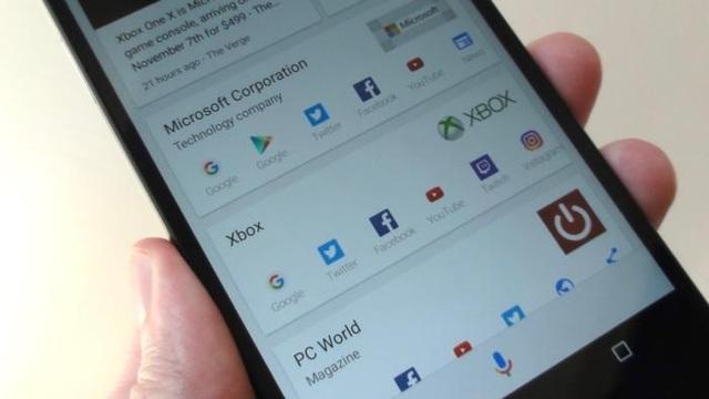 Google phát huy rất tốt lợi thế về tìm kiếm của mình trên các thiết bị được cài đặt Android.