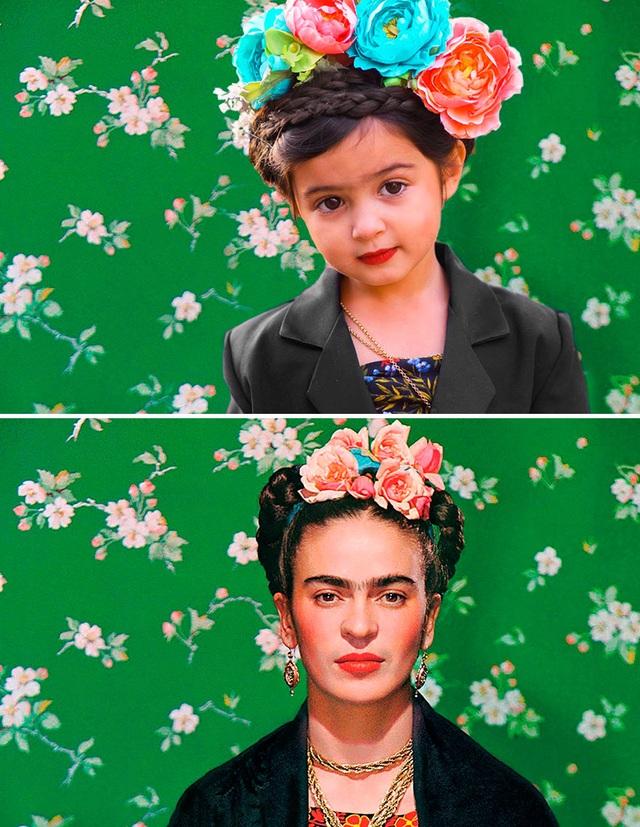 Scout hóa trang thành nữ họa sĩ nổi tiếng người Mexico - Frida Kahlo.