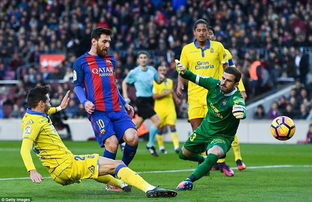 Messi hoàn tất bộ sưu tập bàn thắng vào lưới 20 đội bóng ở La Liga