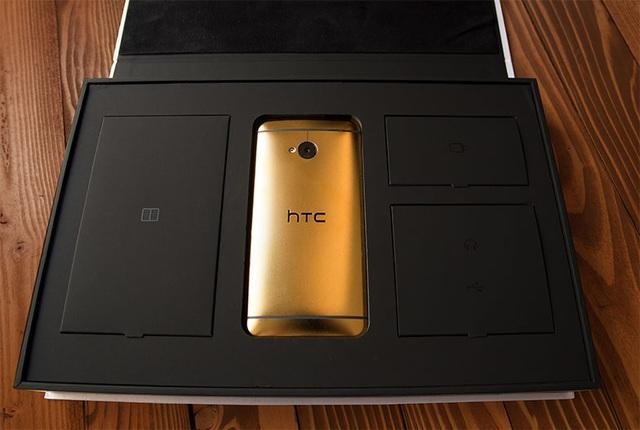 HTC One M7 phiên bản bọc vàng 24K sang trọng