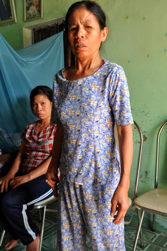 Chị ông Anh, bà Hà Thị Mai mắc bệnh tâm thần và khuyết tật nặng