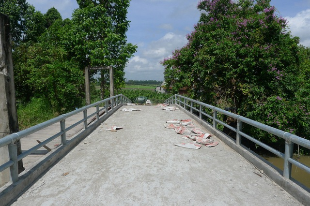 Theo thiết kế, cầu có chiều dài 30m, rộng 3,5m, tải trọng 5 tấn