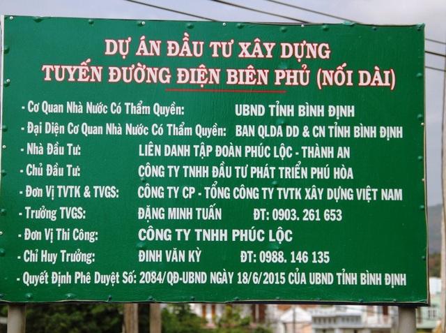 Dự án đầu tư xây dựng tuyến đường Điện Biên Phủ nối dài