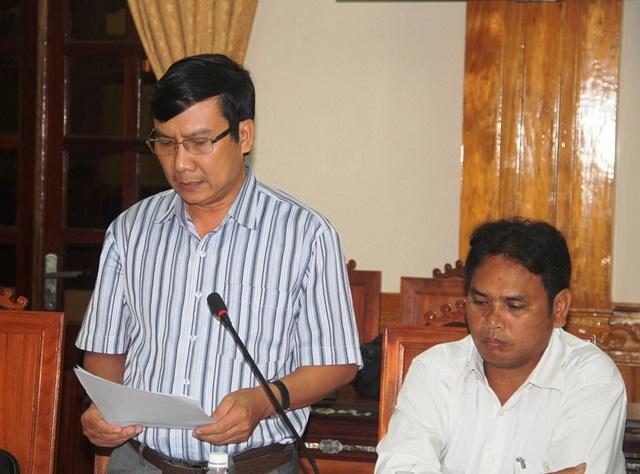 Ông Phạm Văn Nam, Chủ tịch UBND huyện An Lão (Bình Định) nhận khuyết điểm về vụ phá rừng xảy ra trên địa bàn huyện này.
