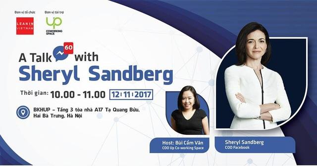 Người phụ nữ quyền lực của Facebook sắp tới dự talkshow ở Hà Nội - 1