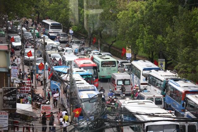 Một số tuyến đường trung tâm Đà Lạt và lối các khu du lịch thường xảy ra ách tắc cục bộ