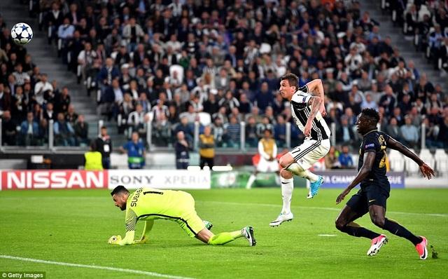 Juventus làm chủ hoàn toàn thế trận trong suốt 90 phút