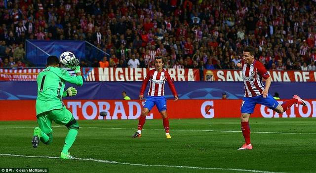 Atletico là đội tăng cường áp lực ngay từ đầu