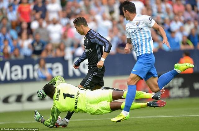 C.Ronaldo mở tỷ số cho Real Madrid ngay ở phút thứ 2