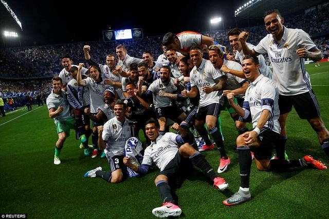 Đây là lần thứ 33 trong lịch sử, Real Madrid lên ngôi vô địch La Liga
