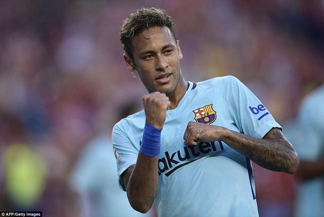 Neymar ghi bàn thắng duy nhất của trận đấu ở phút 32